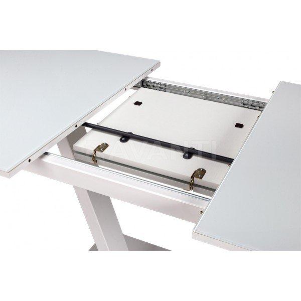 ECLIPSE / Стол обеденный (1200-1600x805x760) (экстрабелое стекло/белый)  в Израиле
