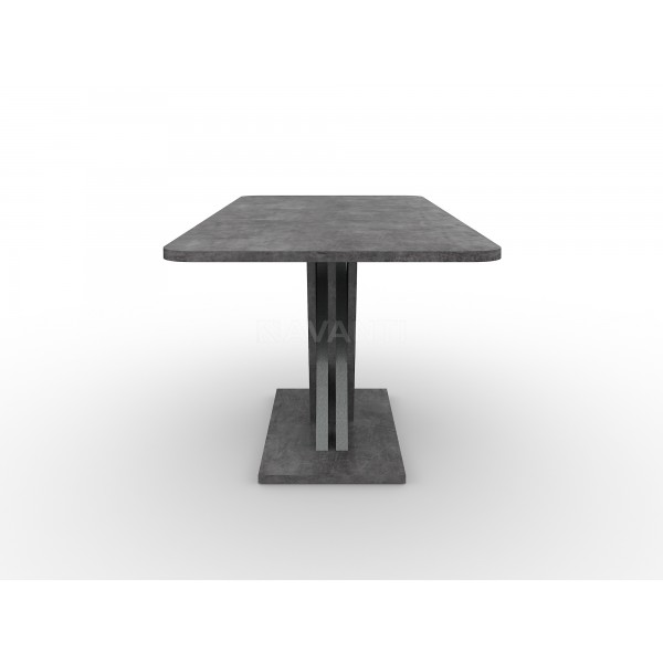 Стол обеденный раскладной EXEL (1360-1800x850x755) (Камень Темный/Титан)  в Израиле